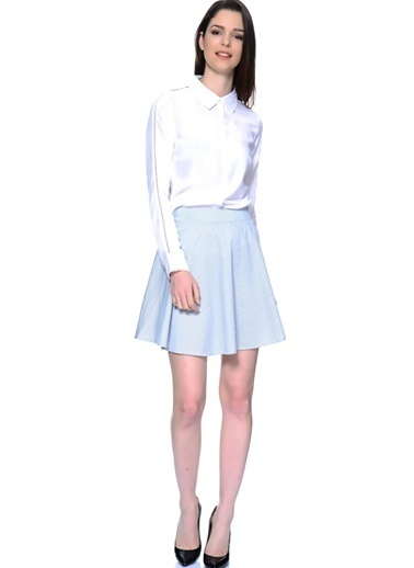 Glamorous Mini Kloş Etek Mavi